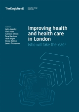 Improving health and health care in London publication cover