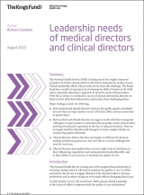 Leadership needs of medical directors and clinical directors publication cover