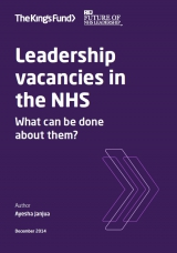 Leadership vacancies in the NHS front cover