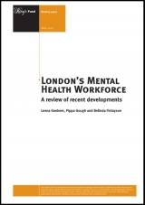 London's mental health workforce: A review of recent developments publication cover