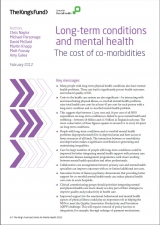 Long-term conditions and mental health: The cost of co-morbidities publication cover