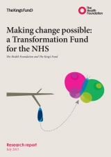 Making change possible: A Transformation Fund for the NHS - front cover