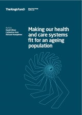 Making our health and care systems fit for an ageing population front cover
