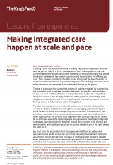Making integrated care happen at scale and pace front cover