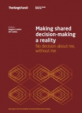 Making shared decision-making a reality publication cover