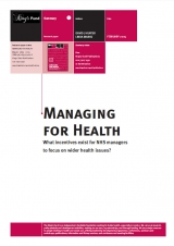 Managing for health publication cover
