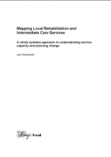 Mapping local rehabilitation and intermediate care services publication cover