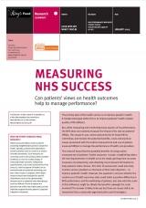 Measuring NHS success publication cover