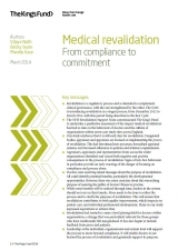 Front cover of 2014 Medical revalidation paper