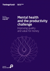 Mental health and the productivity challenge publication cover