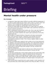 Mental health under pressure