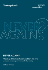 Front cover of Never again? The story of the Health and Social Care Act