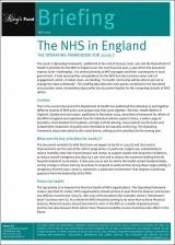 The NHS in England publication cover