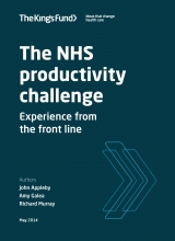 NHS productivity challenge front cover