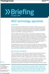 NICE technology appraisals briefing cover