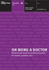 On being a doctor: Redefining medical professionalism for better patient care publication cover