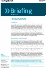 Patient choice briefing cover
