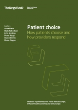Patient choice: How patients choose and providers respond publication cover