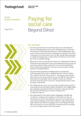 Paying for social care: Beyond Dilnot front cover