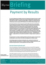 Payment by results briefing cover