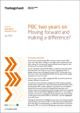 PBC two years on: Moving forward and making a difference? publication cover