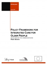 Policy framework for integrated care for older people publication cover