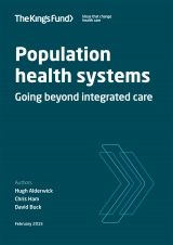 Population health systems front cover