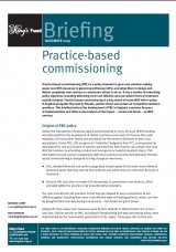 Practice-based commissioning briefing cover