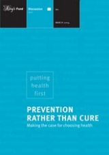 Prevention rather than cure publication cover