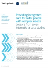 Providing integrated care for older people with complex needs front cover