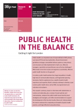 Public health in the balance publication cover