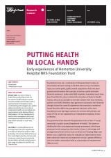 Putting health in local hands publication cover