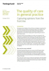 The quality of care in general practice publication cover