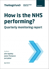 Quarterly Monitoring Report April 2014 front cover