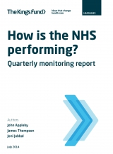How is the NHS performing? July 2014 front cover