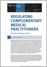 Regulating complementary medical practitioners publication cover