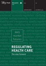 Regulating health care: The way forward publication cover