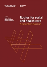 Routes for social and health care publication cover
