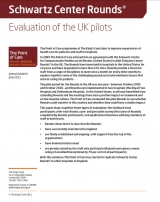 Front cover of our evaluation of the Schwartz Center Rounds UK pilots