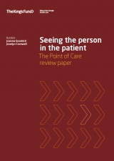 Seeing the person in the patient: The Point of Care review paper publication cover