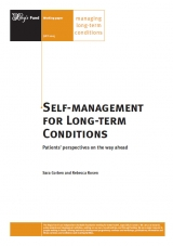 Self-management for long-term conditions publication cover