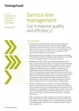 Service-line management publication cover