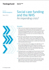 Social care funding and the NHS: An impending crisis? publication cover