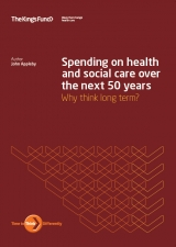 Front cover of Spending on health and social care over the next 50 years: why think long term? report