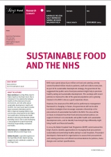 Sustainable food and the NHS publication cover
