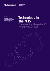 Technology in the NHS: Transforming the patient's experience of care publication cover