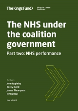 The NHS under the coalition government front cover