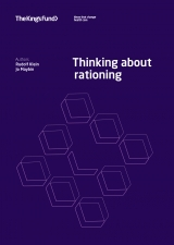 Thinking about rationing publication front cover