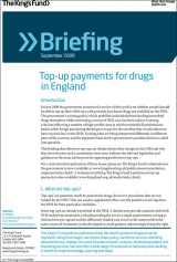 Top-up payments for drugs in England briefing cover