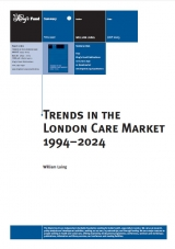 Trends in the London care market 1994-2024